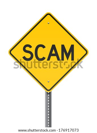 Scan warning road sign - stock vector