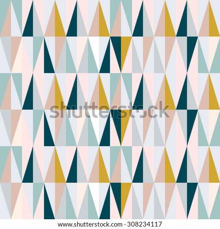scandinavian design triangles seamless pattern vector background. - stock vector