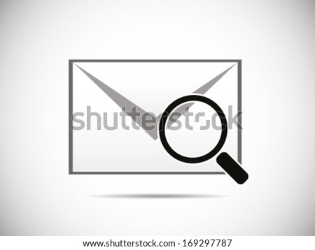 Scanning The Email - stock vector