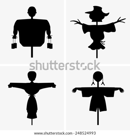 Scarecrows - stock vector
