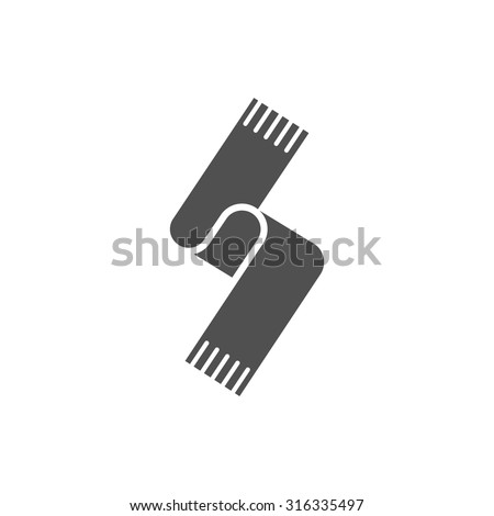 scarf  icon - stock vector