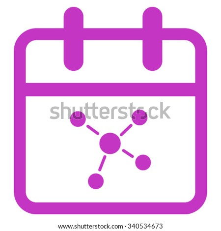 Scheme Day vector icon. Style is flat symbol, violet color, rounded angles, white background. - stock vector