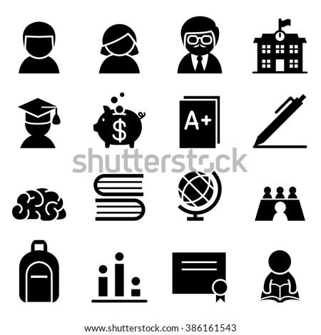 Scholarship Icon - stock vector