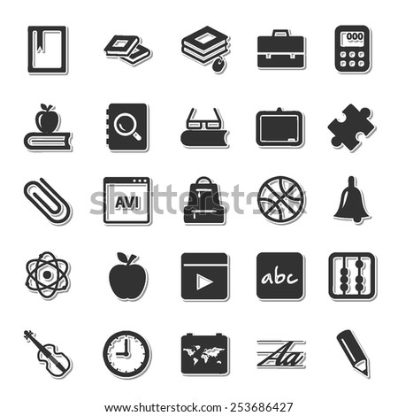 Scholastics icon set 2  - stock vector