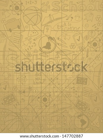 School Background - stock vector