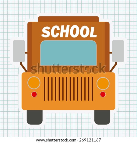School bus design over white background, vector illustration - stock vector