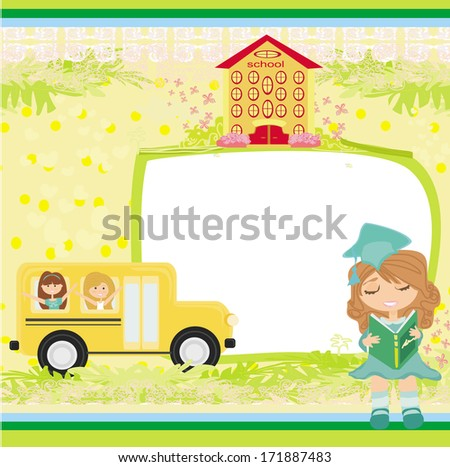 School bus. Place for your text  - stock vector