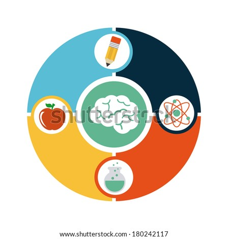 school design over white  background vector illustration - stock vector