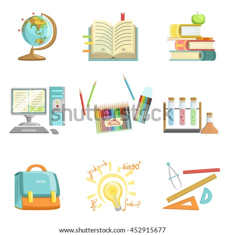School Education And Studies Related Illustrations - stock vector