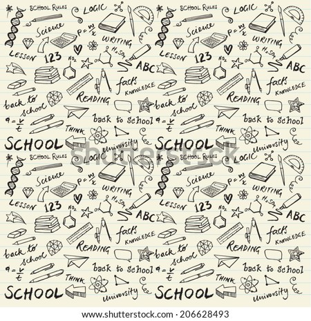 School theme background  - stock vector