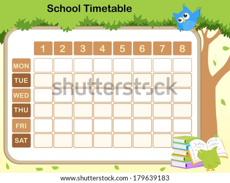 School Timetables 2015 School Timetable For Preschool