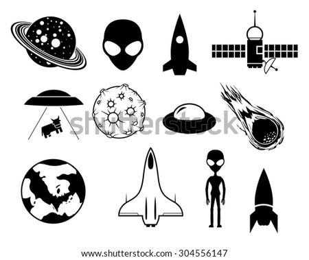 Sci-fi  vector EPS8 icons set - stock vector