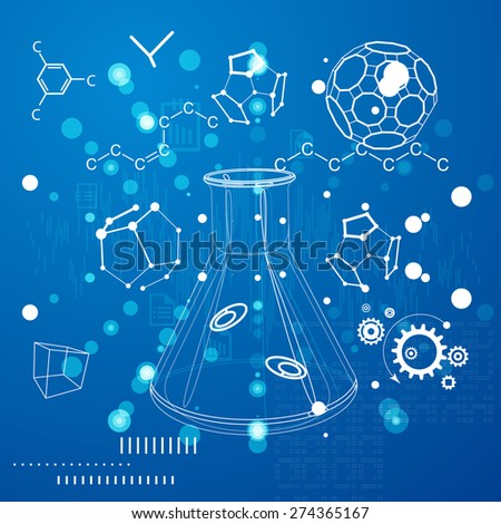Science Abstract Background - Illustration - stock vector