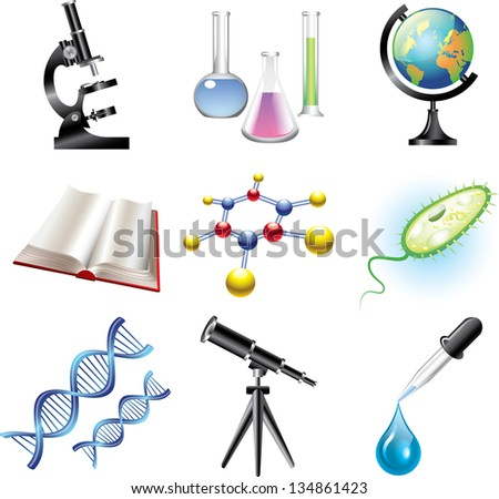 science and ?hemistry vector set - stock vector