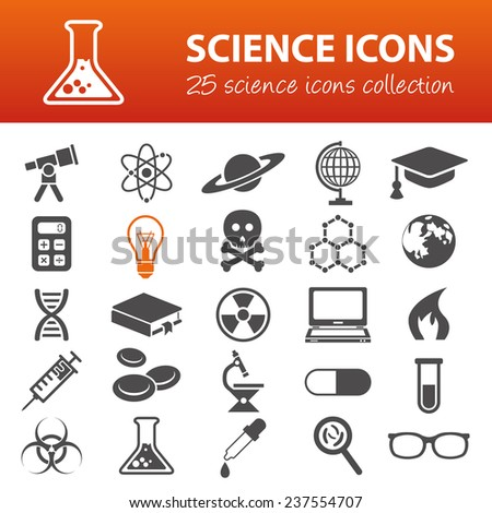 science icons - stock vector