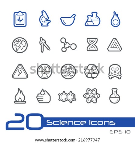 Science Icons // Line Series - stock vector