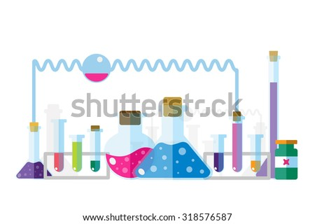 Science lab icons isolated. Science vector icons set. Education laboratory lab icons, science icons, lab equipment. Lab glasses symbols, atom, flasks, chemistry icons. Technology icons. Virus,medical - stock vector
