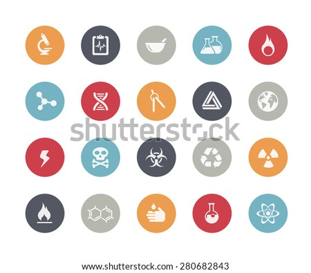 Science Signs and Symbols // Classics Series - stock vector