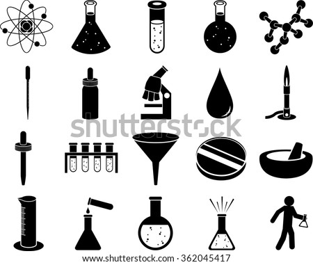 science symbols set - stock vector