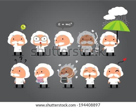 Scientist cartoon  animations - stock vector