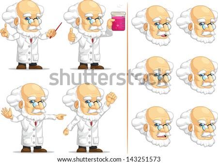 Scientist or Professor Customizable Mascot 11 - stock vector