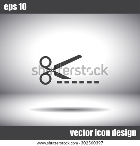 scissors cut vector icon - stock vector