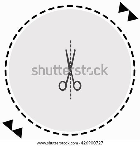 Scissors icon Flat Design. Isolated Illustration. - stock vector