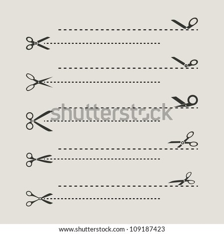 Scissors Templates - stock vector
