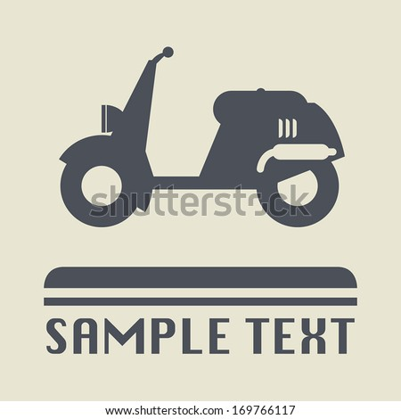 Scooter icon or sign, vector illustration - stock vector