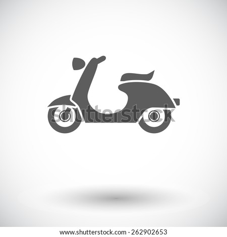 Scooter. Single flat icon on white background. Vector illustration. - stock vector