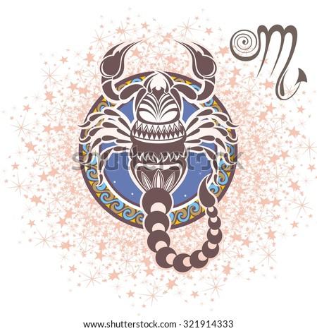 Scorpio. Zodiac sign - stock vector