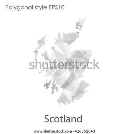 Scotland map in geometric polygonal style.Abstract gems triangle,modern design background. - stock vector