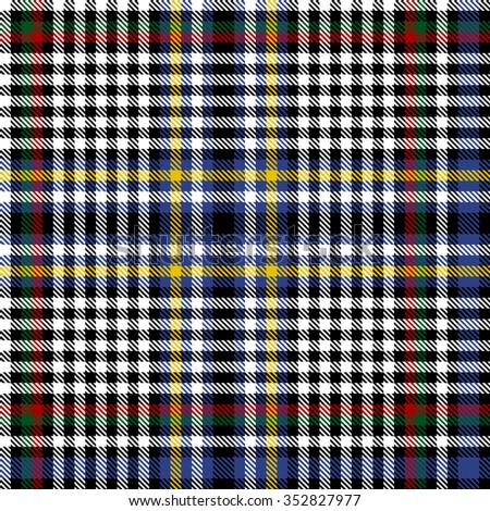 Scottish Tartan Seamless pattern background illustration - stock vector