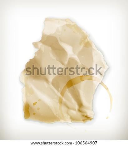 Scrap of paper, vector - stock vector