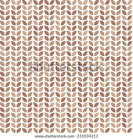 Scrap seamless pattern with brown leaves - stock vector