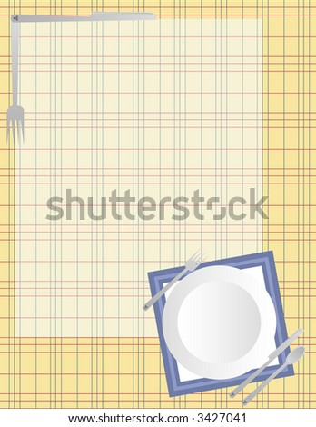 Scrapbook Page Layout - Dinnertime - stock vector