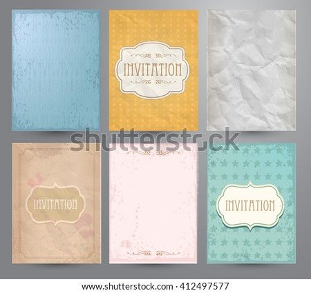 Scrapbooking set. Old paper textures. - stock vector
