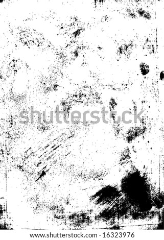 Scratched and messy grunge texture. Highly detailed. Check my portfolio for similar design elements! - stock vector