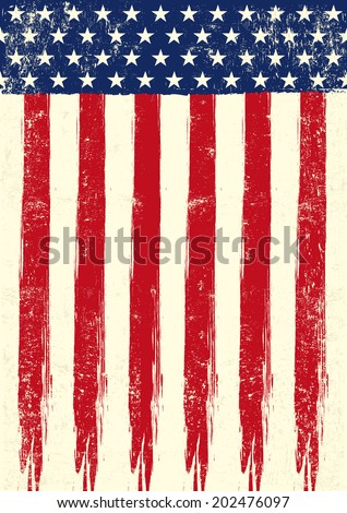 scratched flag of USA.eps. An american grunge flag of USA - stock vector