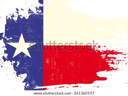 Scratched Texas Flag. A flag of Texas with a grunge texture - stock vector