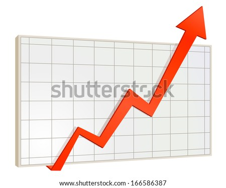screen arrow graph - stock vector