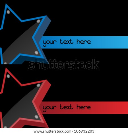 Screen edge announcer star with space for text - stock vector