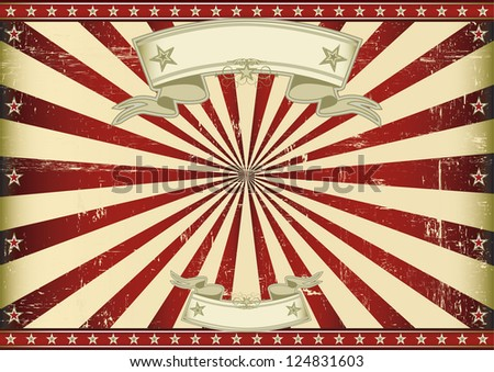 Screen red vintage sunbeams. A vintage horizontal poster with red sunbeams for you. Perfect size for a screen. - stock vector