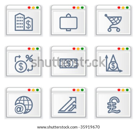 Screen with icon 23 - stock vector