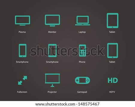 Screens icons. Vector illustration. - stock vector