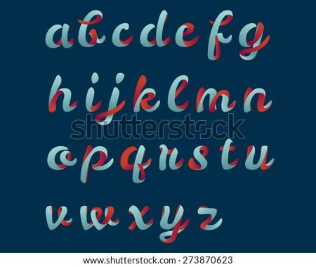 Script font - stock vector