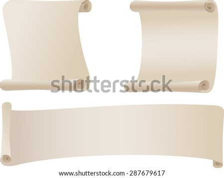 Scroll - stock vector