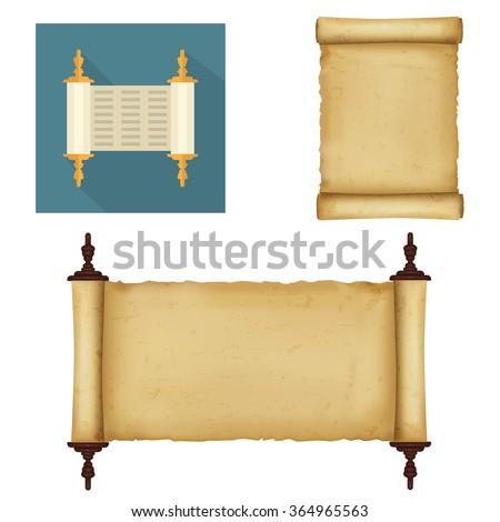 Scrolls - stock vector