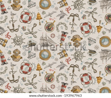 Sea. Background. Vector format - stock vector
