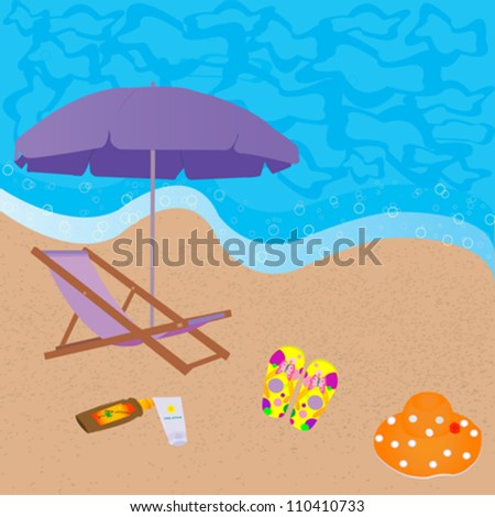 sea beach background for holiday summer design - stock vector